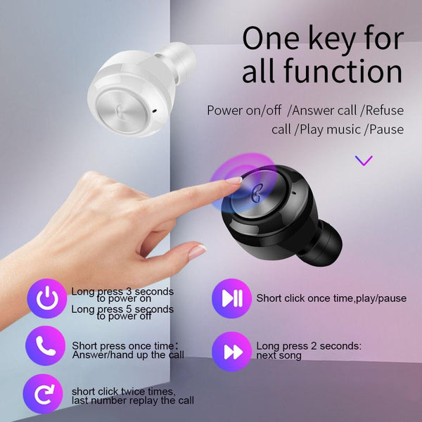 New TWS Bluetooth 5.0 Earphones Wireless Headphones Earphone Handsfree Headphone Sport Earbuds For iPhone Android