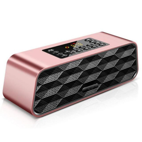 New Super Bass Bluetooth Speaker Subwoofer Portable Wireless Speaker With Mic Audio Multifunction TF FM Radio