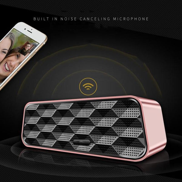 New Super Bass Bluetooth Subwoofer Portable Wireless Speaker With Mic Audio Multifunction TF FM Radio For iPhone Android