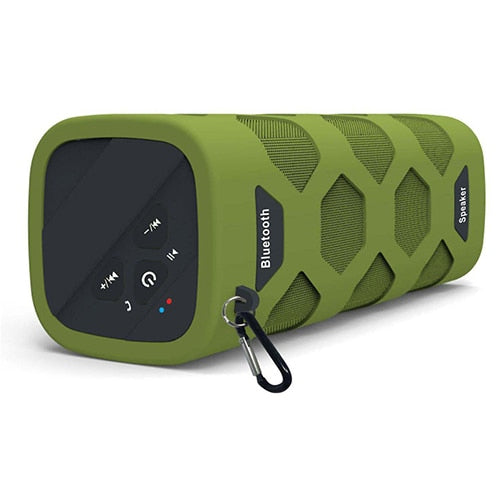 New NFC Wireless Bluetooth Waterproof Portable Outdoor Mini Stereo Column Speaker With Powerbank