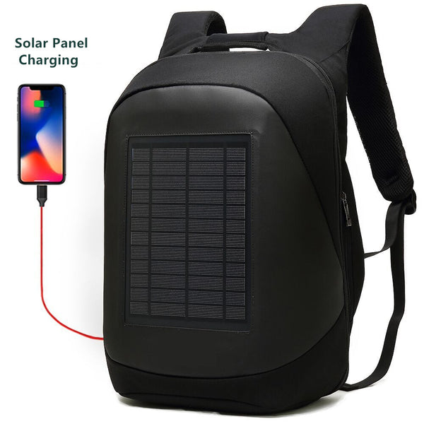 New Solar Charging Anti-Theft High Capacity Laptop Computer Business Outdoor Backpack Bag