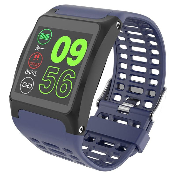 New IP67 Waterproof Bluetooth Pedometer Heart Rate Monitor Color Display Smart Watch For Android iOS
