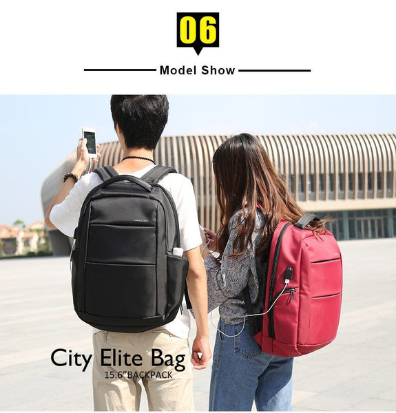 New Large Capacity 15.6'' USB Port Charging Anti-Theft Smart Travel Outdoor Backpack For Men Women