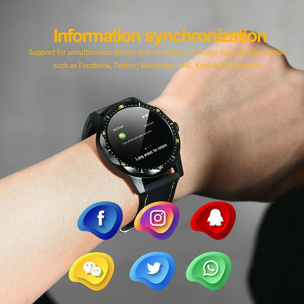 New Smart Watch IP68 Waterproof Heart Rate Activity Fitness Tracker Bluetooth Men Smartwatch For iPhone Android
