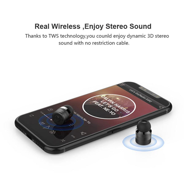 New Bluetooth 5.0 TWS Earbuds In-Ear True Stereo Sound With Charging Box 2000mAh Power Bank