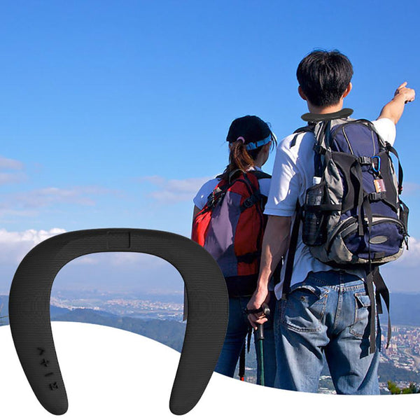 New 5D Stereo Wireless Bluetooth Wearable Sport Neck Ring Microphone Speaker For iOS Android Windows