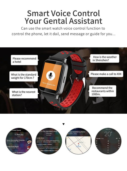 New Smart Watch Bluetooth Call Heart Rate Blood Pressure Blood Oxygen Monitor Smartwatch For iPhone Android
