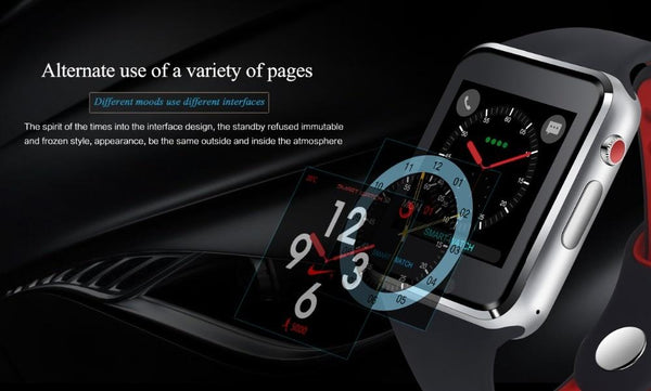 New Bluetooth Smart Watch With Camera Facebook Whatsapp Twitter Sync SMS Smartwatch For iPhone Android