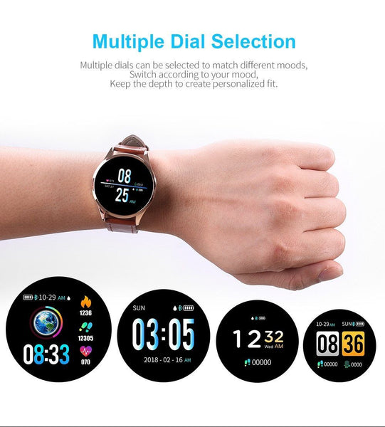 New Waterproof Fitness Tracker Smart Watch Heart Rate Blood Pressure Monitor Smartwatch For iPhone Android