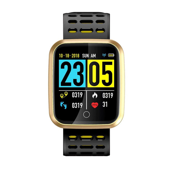 New 1.3'' IPS Big Screen Heart Rate Blood Pressure Monitor Fitness Tracker Smartwatch For iPhone Android
