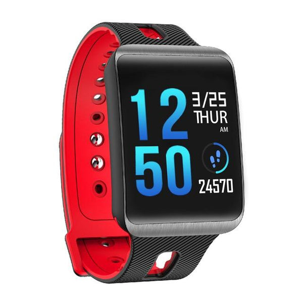 New IP67 Heart Rate Blood Pressure Monitoring Touch Screen Smart Bracelet Fitness Tracker Smartwatch For iPhone Android