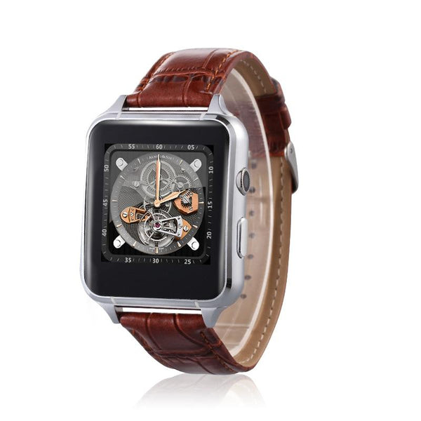 New Leather Band Bluetooth Smart Watch With Gesture Control Heart Rate Monitor Anti-Lost 30W Camera For iPhone Android