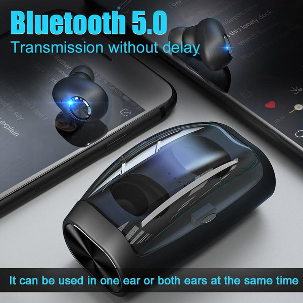New Wireless Bluetooth Noise Cancelling Earbuds TWS Stereo Earphones With Mic Charging Box