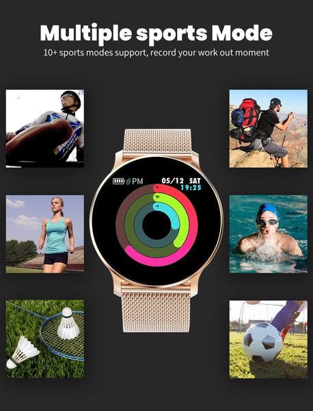 New Smart Watch Waterproof Smartwatch Heart Rate Monitor Fitness Tracker For iPhones Android