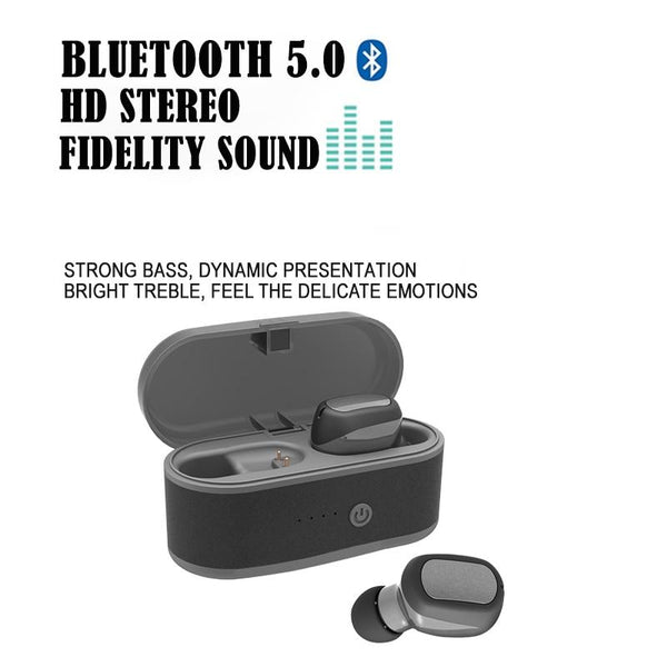 New TWS Bluetooth Earphones True Wireless Earbuds IPX7 Waterproof Stereo Bass Headset Bluetooth 5.0 With