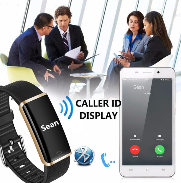 New  IP67 Waterproof Smart Band Remote Control Blood Pressure Heart Rate Monitor Smart Bracelet For iPhone Android
