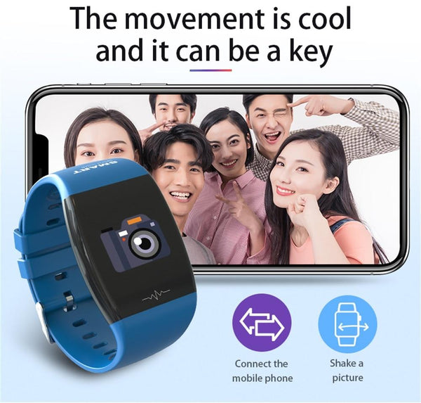 New Smart Watch Heart Rate Blood Pressure Monitor IP67 Waterproof Steps Calories Counter Sports Smartwatch