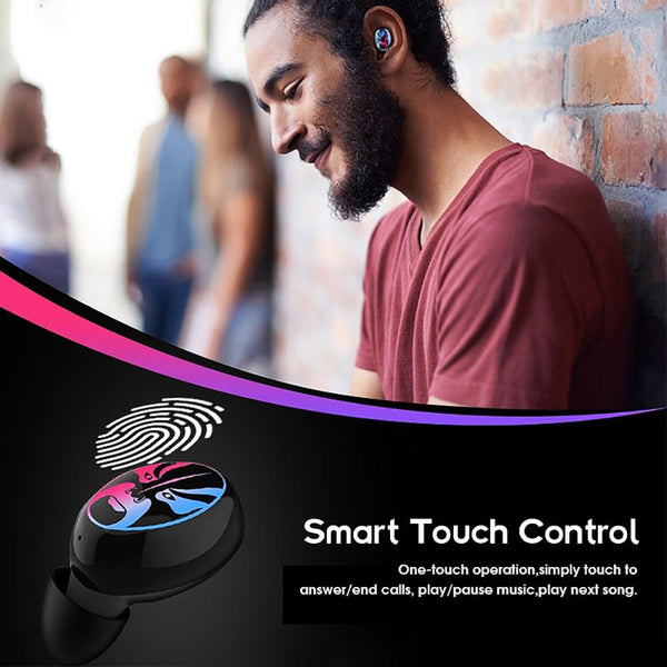 New TWS Bluetooth Wireless Earbuds 6D Stereo Noise Cancelling Earphones Gaming Headset For Android iPhone