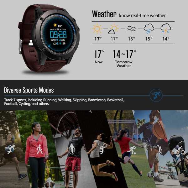 New Rugged Outdoor Smart Sport Watch Fitness Heart Rate Monitor Tracker Smartwatch For Android iPhones