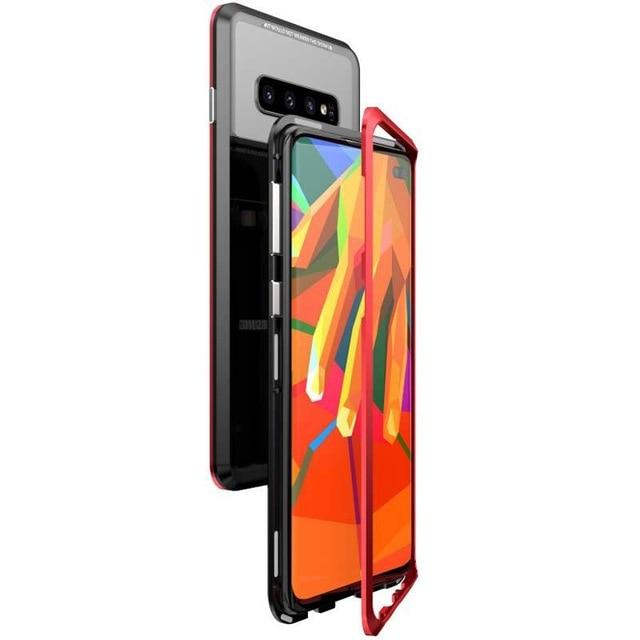 New Magnetic Phone Case Frame Cover Aluminum Metal Bumper Phone Case Coque For Samsung Galaxy S10 S10 Plus