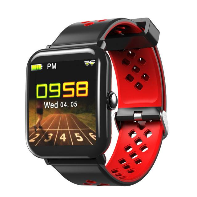 New Bluetooth Sport Watch Color Smart Watch Waterproof Heart Rate Sleep Monitor For iOS Android