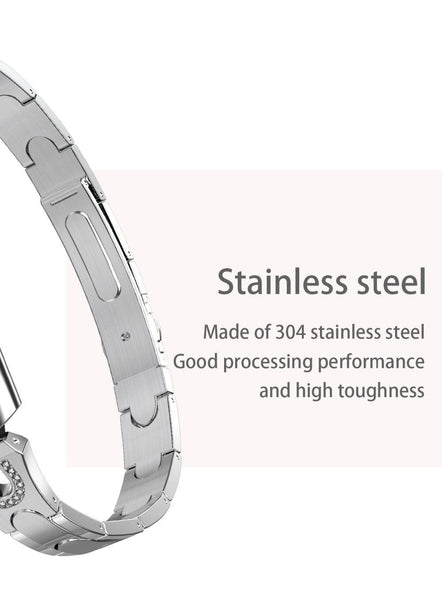 New Stainless Steel Smart Watch IP67 Waterproof Heart Rate Monitor Bracelet Smartwatch For Android iPhone
