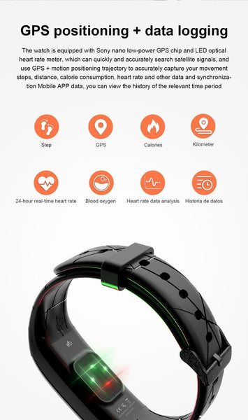 New Sport Smart Bracelet Heart Rate Monitor Color Screen IP67 Waterproof Fitness Tracker Smart Band For iOS Android