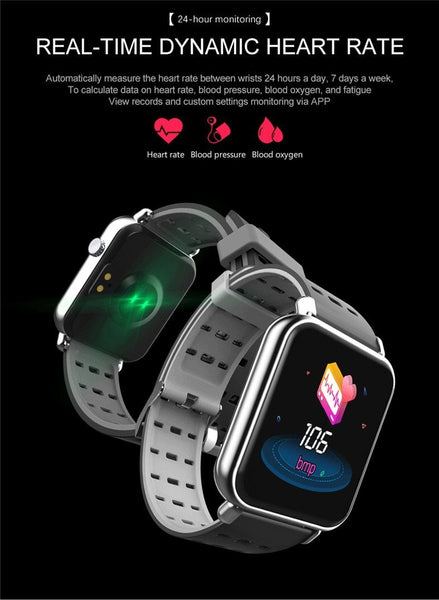 New IP67 Waterproof Slim Smart Watch Heart Rate Blood Pressure Oxygen Monitor Fitness Tracker For iOS Android