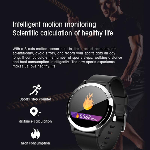 New Smart Watch Waterproof Blood Pressure Heart Rate Monitor Multi-Sport Mode Fitness Smartwatch