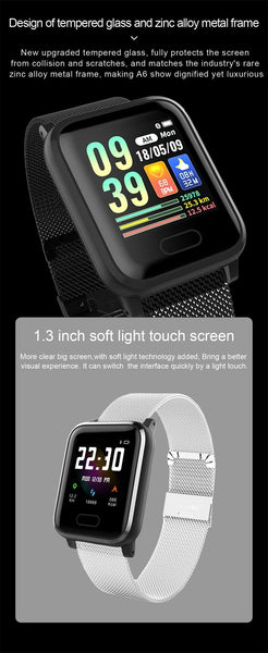 New IP67 Waterproof Smart Watch Heart Rate Blood Pressure Oxygen Sleep Smart Bracelet Fitness Tracker For iOS Android