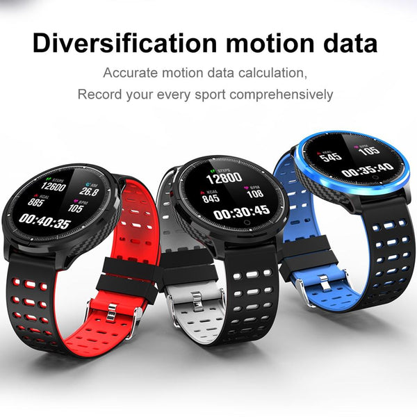 New IP68 Waterproof Smart Watch Heart Rate Blood Pressure Monitor Sport Activity Sleep Tracker For iPhone Android