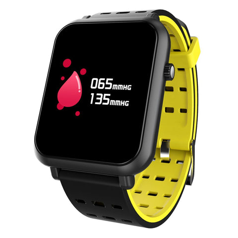 New Compact Heart Rate Monitor Smart Watch Waterproof Bluetooth Touch Screen Smart Watch For Android iOS