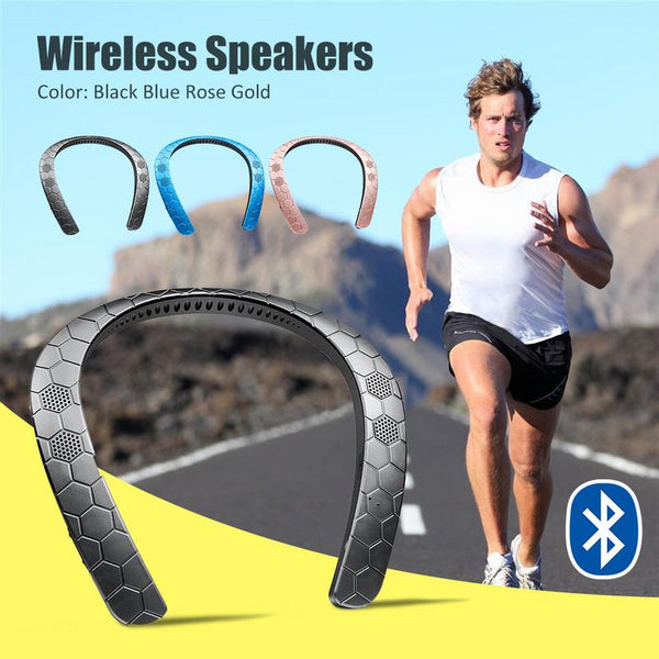 New Neck Hanging Bluetooth Stereo Portable Outdoor Speaker For Walking Running Traveling