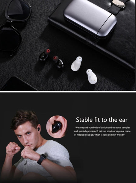 New TWS Waterproof WirelessEarbuds Bluetooth 5.0 Earphone With Mic Power bank For iPhone Android