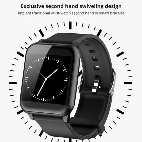 "New Smart Band 1.3"" IPS Glass Screen IP67 Waterproof Sport Smartwatch Blood Pressure Fitness Tracker For iOS Android"