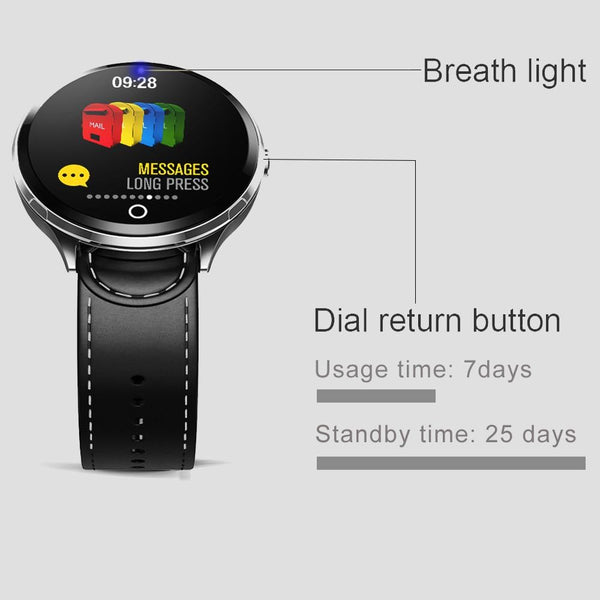 New Splash-Proof Toughened glass Smart Band Fashion Fitness Tracker Blood Oxygen Smartwatch For Men Women