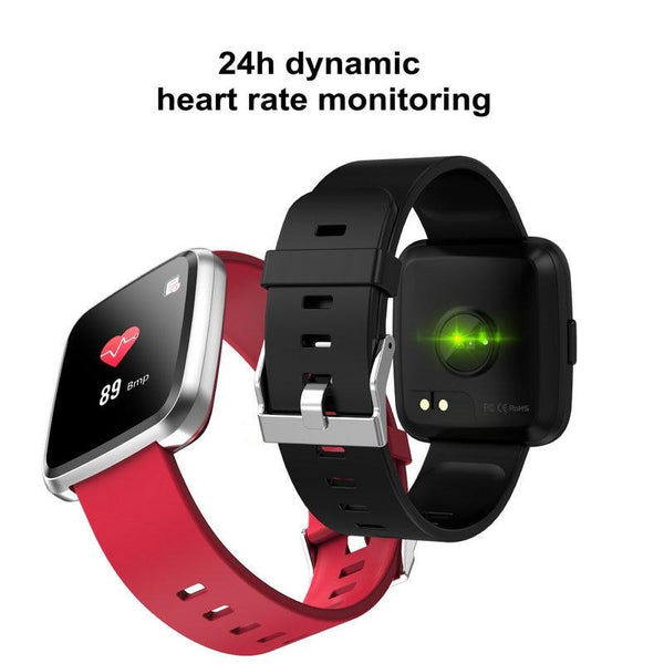 New IP67 Waterproof Fitness Tracker Heart Rate Monitor Blood Pressure Smartwatch Bracelet For iPhone Android