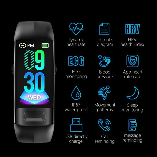 New Blood Pressure Smart Band Heart Rate Smart Bracelet Activity Fitness Tracker Watch For iPhone Android