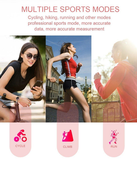 New Dynamic IP67 Waterproof Heart Rate Blood Pressure Oxygen Smart Watch Bracelet For Android iPhone