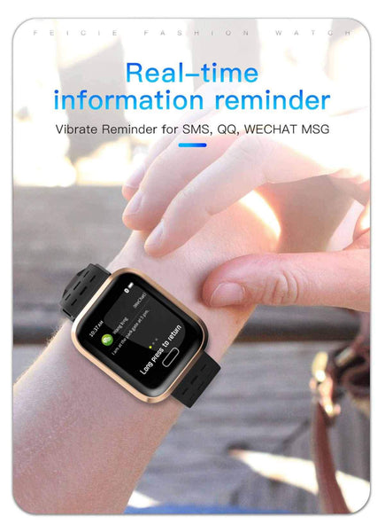 New Multi-Sport Heart Rate Blood Pressure Blood Oxygen Monitor Fitness Sport Smartwatch For Men Women