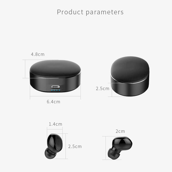 New TWS Mini Wireless Bluetooth Earphone Earbuds With Charging Box Sport Headsets For iPhone Android