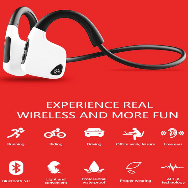 New Bone Conduction Bluetooth Sweatproof Noise Cancelling HD Stereo Wireless Headset Headphones For iPhone Samsung Xiaomi