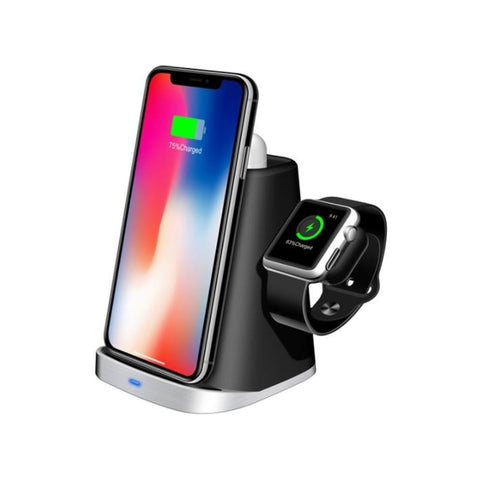 New Qi Wireless Compact Station Charger Phone Stand For Apple iPhone Watch Airpods