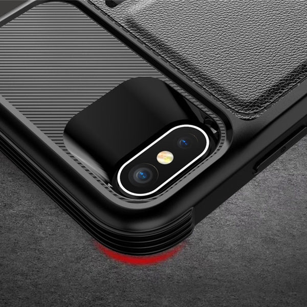 New Business Car Magnetic Card Holder Wallet Leather Flip Cover Case For iPhone X XR XS 11 Pro Max Samsung Galaxy S10 Series