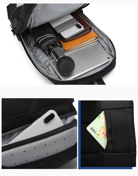 New Compact USB Charging Cross Body Anti-Theft Chest Messenger Bag For Men Women