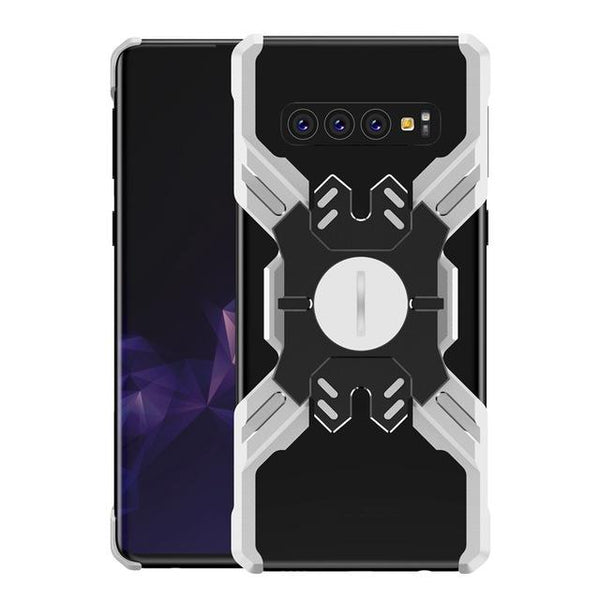 New Super Light Metallic X-Shaped Protective Bumper Phone Case For Samsung Galaxy S10 Series