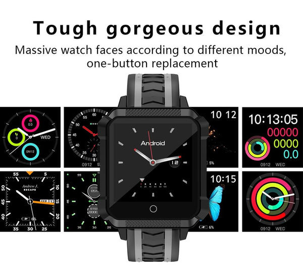 New Rugged Outdoor Waterproof GPS Android Wear 4G WIFI Bluetooth Sport Smartwatch For Android iPhone