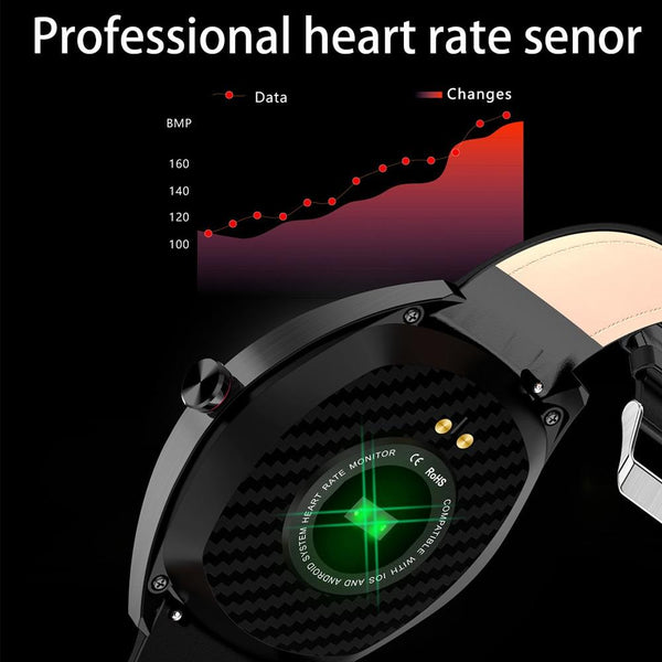 "New 1.3"" IP68 Waterproof Bluetooth Heart Rate Monitor Fitness Tracker Sport Smartwatch For Android iOS"