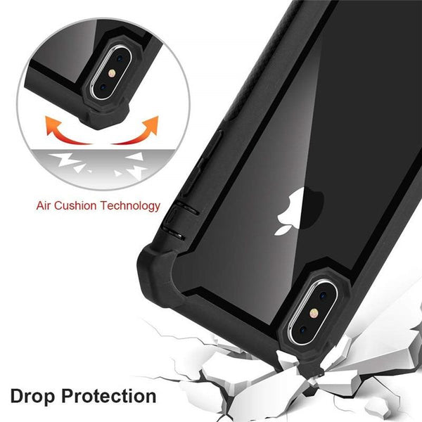 New High Quality Transparent Hybrid Rugged Anti-Shock Cover Case For iPhone X XS MAX XR