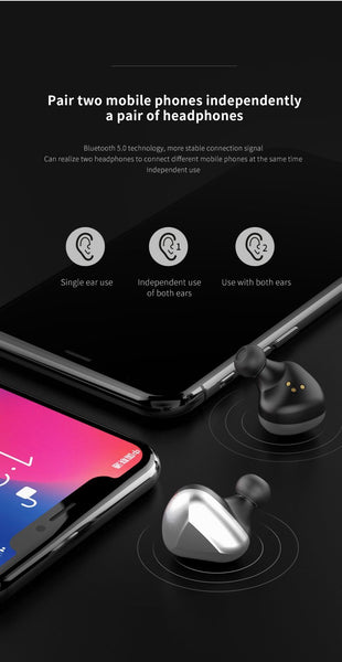 New HiFi 6D Stereo Bluetooth 5.0 TWS Wireless Headphones Earphones IPX6 Waterproof Headse Earphones